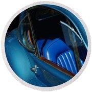 1953 Jaguar 120m Wind Wings Round Beach Towel