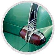 1953 Packard Caribbean Convertible Taillight Round Beach Towel
