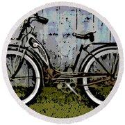 1953 Schwinn Bicycle Round Beach Towel