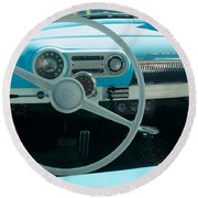 1954 Chevy Flo Abel Round Beach Towel