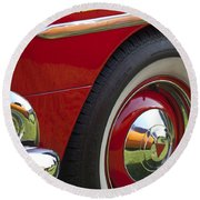 1954 Hudson Hornet Wheel And Emblem Round Beach Towel