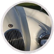 1954 Jaguar Xk 120 Se Roadster Round Beach Towel