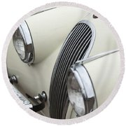 1954 Jaguar Xk120 Roadster Grille Round Beach Towel