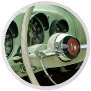 1954 Kaiser Darrin Steering Wheel Round Beach Towel