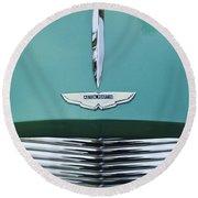 1955 Aston Martin Grille Emblem Round Beach Towel