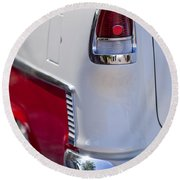 1955 Chevrolet 210 Taillight Round Beach Towel