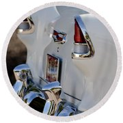 1955 Chevrolet 210 Taillights Round Beach Towel