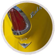 1955 Chevrolet Nomad Taillight Round Beach Towel