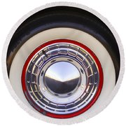 1955 Chevrolet Nomad Wheel Round Beach Towel