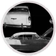 1955 Chevy Bel Air 2 Door Hard Top Round Beach Towel
