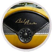 1955 Chevy Belair Clock Round Beach Towel