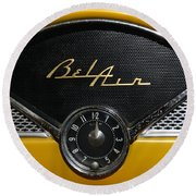 1955 Chevy Belair Clockface Round Beach Towel