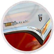 1955 Ford Fairlane Crown Victoria Emblem Round Beach Towel