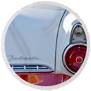 1955 Ford Fairlane Fordomatic Taillight Round Beach Towel