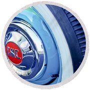 1955 Gmc Suburban Carrier Pickup Truck Wheel Emblem Round Beach Towel