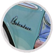 1955 Plymouth Belvedere Emblem Round Beach Towel