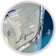 1955 Pontiac Safari Station Wagon Emblem Round Beach Towel