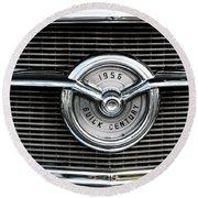 1956 Buick Century Grill Emblem Round Beach Towel