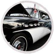 1956 Buick Century Profile 2 Round Beach Towel