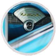 1956 Chevrolet Belair Nomad Dashboard Clock Round Beach Towel