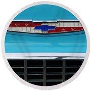 1956 Chevrolet Belair Nomad Grille Emblem Round Beach Towel