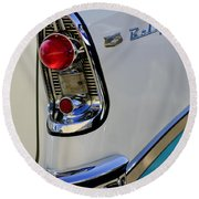 1956 Chevrolet Belair Taillight Emblem Round Beach Towel