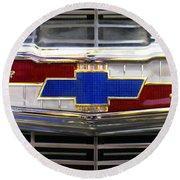 1956 Chevrolet Grill Emblem Round Beach Towel