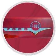 1956 Ford F100 Round Beach Towel