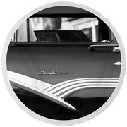 1956 Ford Fairlane Club Sedan Round Beach Towel