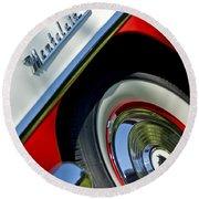 1956 Mercury Montclair Wheel Emblem Round Beach Towel