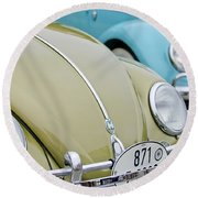 1956 Volkswagen Vw Bug Round Beach Towel