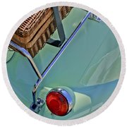1957 Bmw Isetta 300 Motocoupe Taillight Round Beach Towel