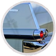 1957 Cadillac Taillight Round Beach Towel