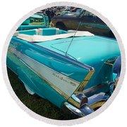 1957 Chevy Convertable Round Beach Towel