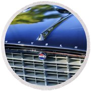 1957 Chrysler 300c Grille Emblem Round Beach Towel