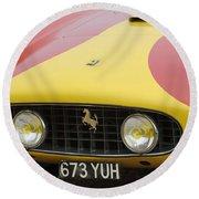 1957 Ferrari 250 Gt Lwb Scaglietti Berlinetta Round Beach Towel
