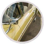 1957 Ford Fairlane 500 Skyliner Retractable Hardtop Convertible Round Beach Towel