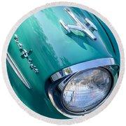 1957 Oldsmobile 98 Starfire Convertible Fender Spear Round Beach Towel