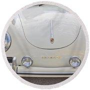 1957 Porsche Speedster Antique Car Round Beach Towel