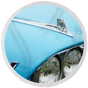 1958 Chevrolet Impala Fender Spear Round Beach Towel