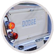 1958 Dodge Sweptside Pickup Taillight Round Beach Towel