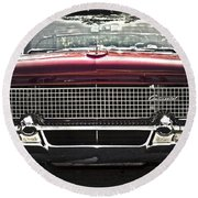 1958 Lincoln Continental Round Beach Towel