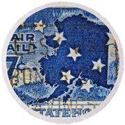 1959 Alaska Statehood Stamp Round Beach Towel