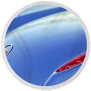 1959 Chevrolet Corvette Taillight Emblem Round Beach Towel