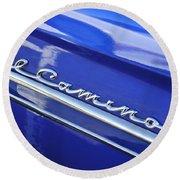 1959 Chevrolet El Camino Emblem Round Beach Towel