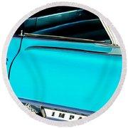 1959 Chevrolet Impala Round Beach Towel
