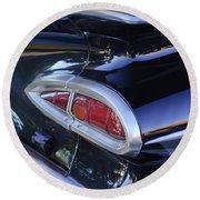 1959 Chevrolet Impala Taillight Round Beach Towel