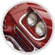 1959 Chrysler 300 Headlight Round Beach Towel