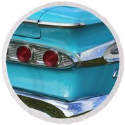 1959 Edsel Corvair Taillights Round Beach Towel