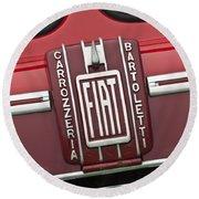 1959 Fiat Tipo 682 Rn-2 Transporter Emblem Round Beach Towel